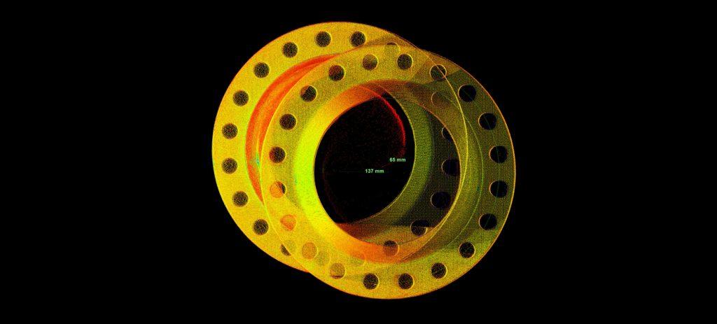 סריקת לייזר תלת ממדית תעשייה תהליכית